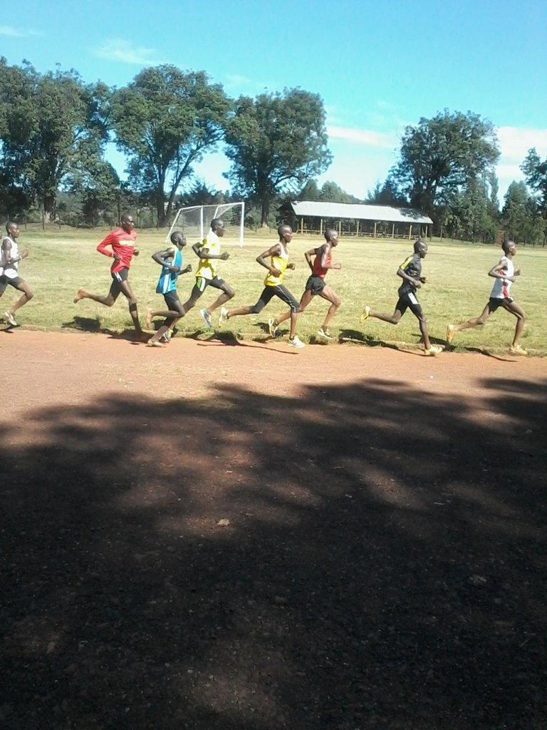 Underprivileged Runners Training Hard at Kericho
