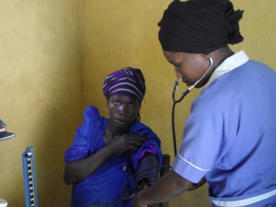 A Health worker in antenatal room