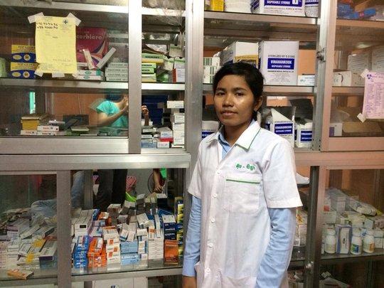 Chenda got her dream job as a nurse in her village