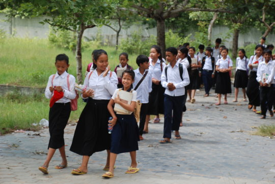 GATE students on their way to school