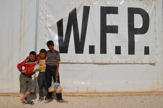 World Food Program Kids with Food