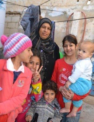 Syrian refugee family in Jordan