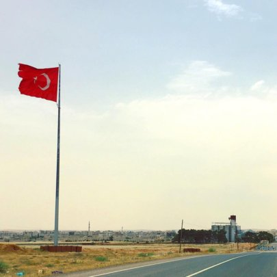 A view of the Syria-Turkey border