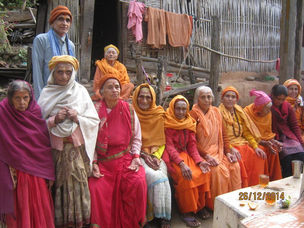 elderly people at Manakamana