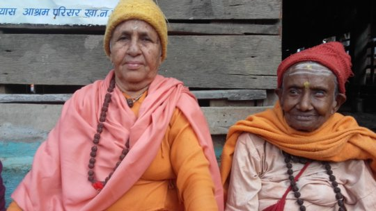 Two of the  old women at the Home