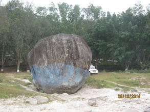 A big  stone at Manakalama  historical  importance