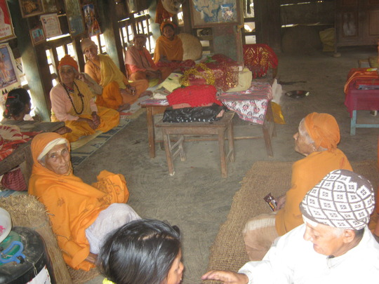 The old age people, in the prayer hall