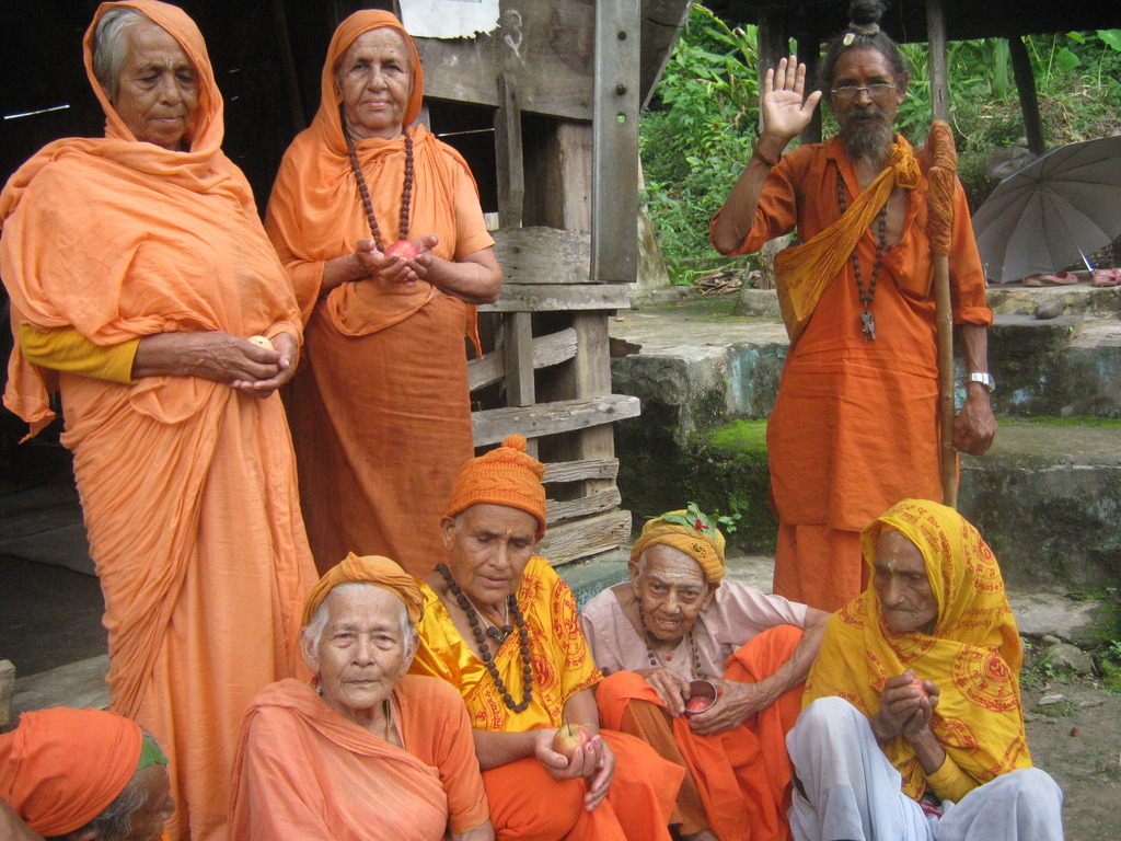 Some religious women with  one 92 year old woman