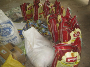 Food materials we are going to distribute.