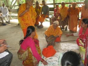 One of  oldest women receiving food marferials