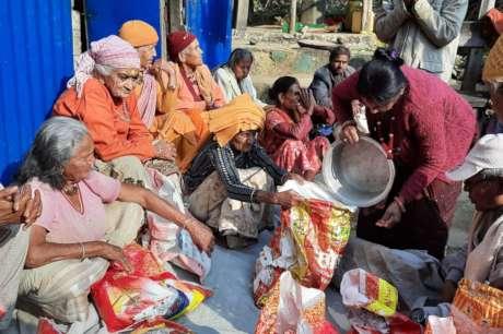 Provide food for 35 elderly people in Nepal