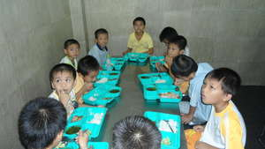 Children having lunch at Hoa Mau Don Orphanage