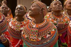 Samburu Women Greet a MADRE Delegation