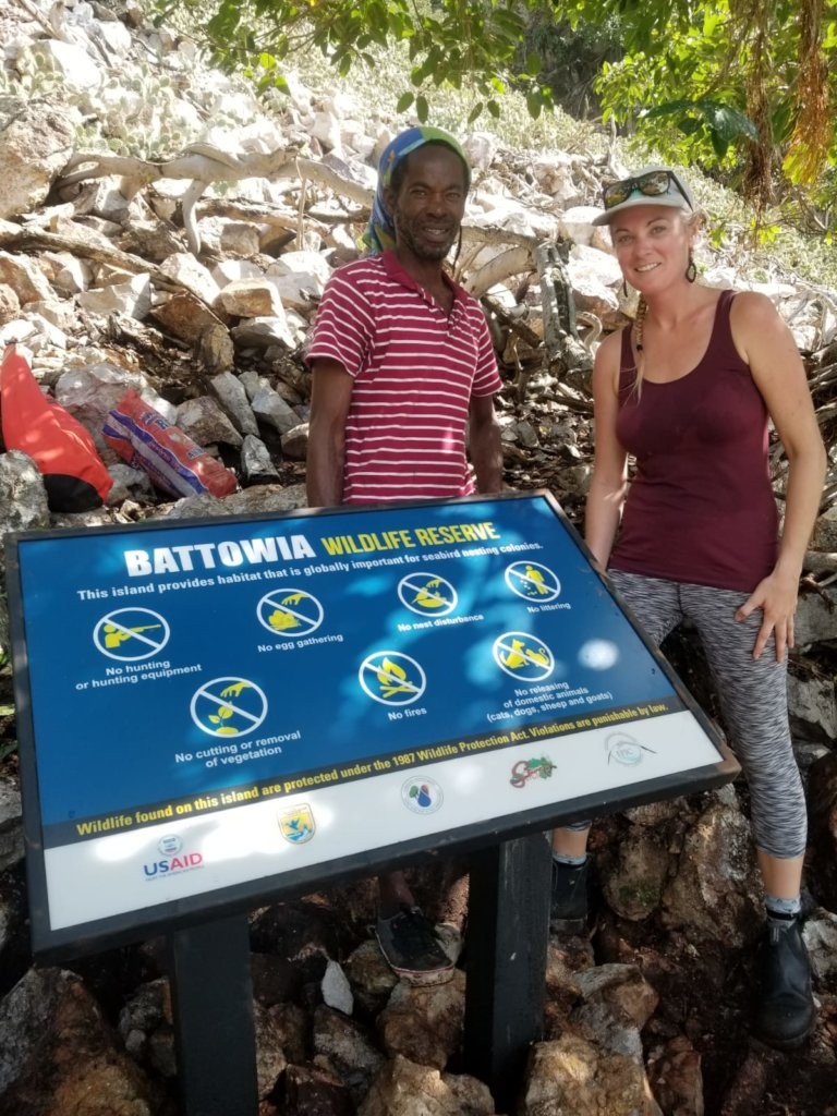 Team members installed signs on Wildlife Reserves.