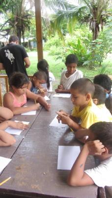 Grupo Los Pumas trabajando