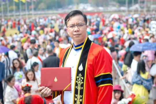 Sai Oo at his graduation ceremony