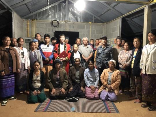 Sai Oo returns to his community to celebrate