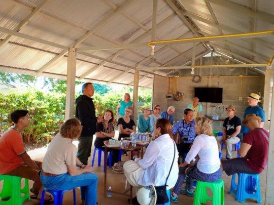 The World Pilgrim group visit Koung Jor Camp