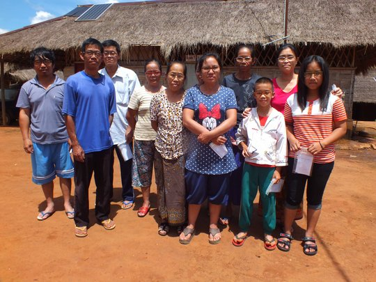Some residents of Koung Jor receive their glasses