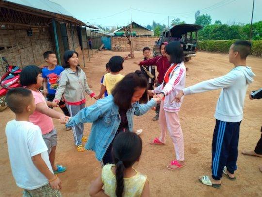 Children playing at Koung Jor