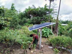 One of the solar panels for the clinics in Burma