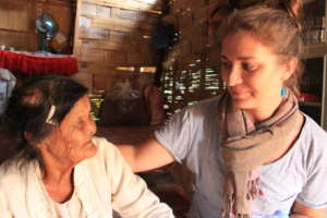 Iona and our friend at Koung Jor refugee camp