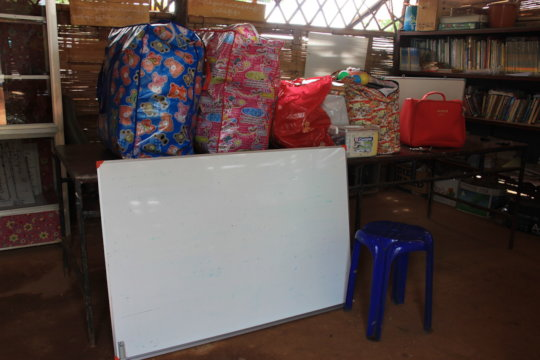 Donations of clothes and teaching materials