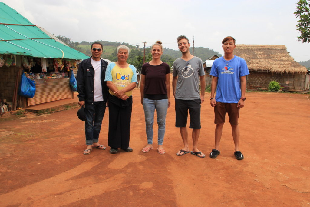 Tom and Iona with the Koung Jor team