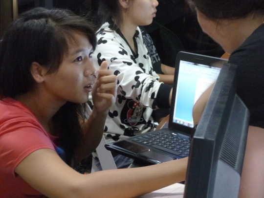 One of the keen students at our education workshop