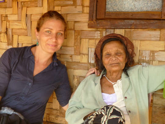 Iona and a community member of Koung Jor