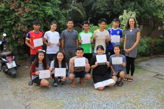 Students at BEAM receive their certificates
