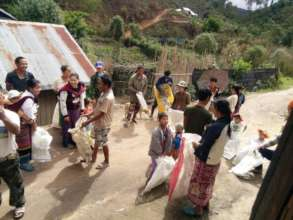 Rice distribution - Shan State Refugee Committee