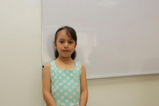 Camila, Christel House Mexico 2nd grade student