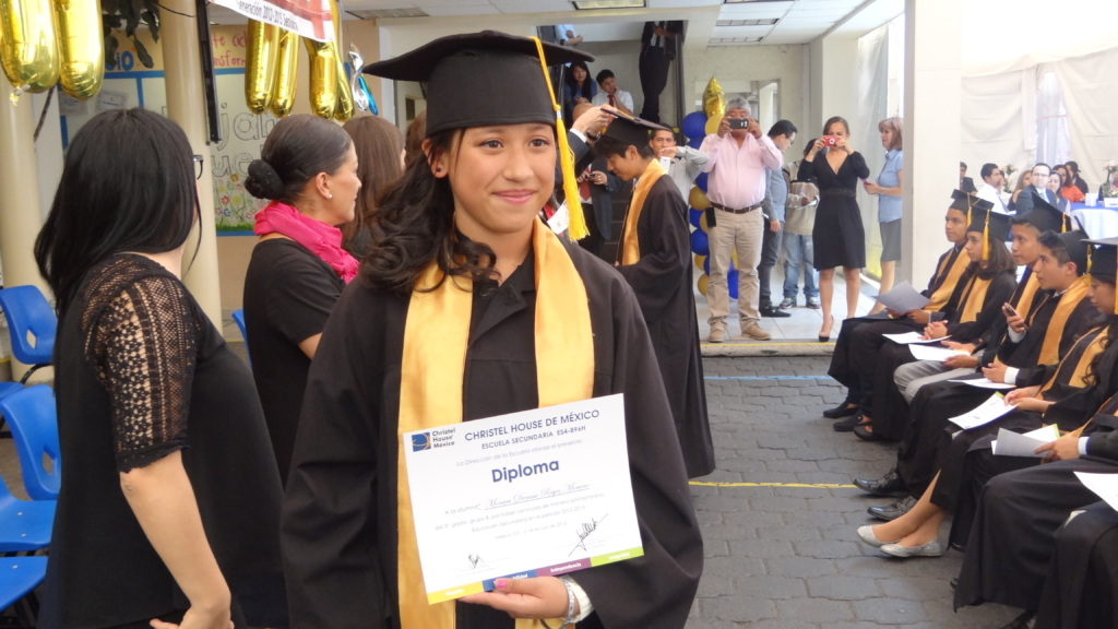 Monica at her 9th Grade Graduation