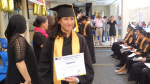 Monica at her 9th Grade Graduation