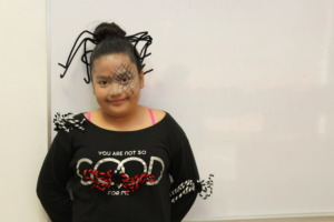 Alexandra celebrating Day of the Dead at school