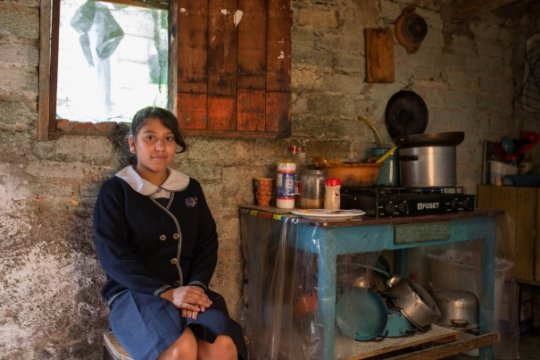 Esmeralda at her home in Mexico City