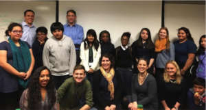 Spark Chicago students and their Spark mentors