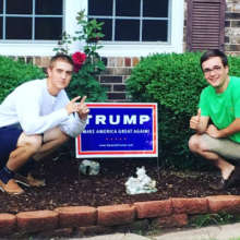 Backing Trump for president