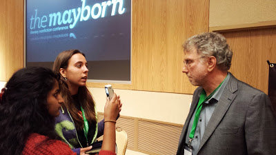 Two YJI reporters interview editor Marty Baron