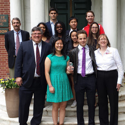 With students at The Lawrenceville School