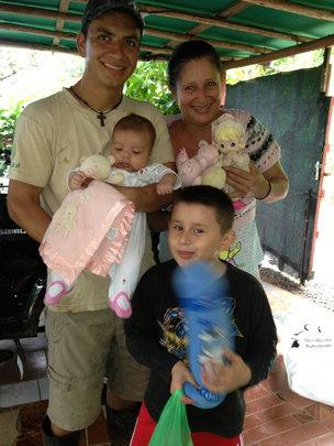 Allan's Family in Santa Juana