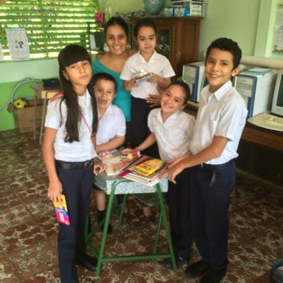Children at the Santa Juana School