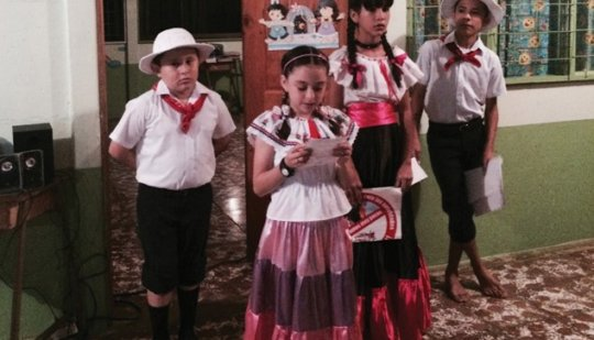 Girls at the Sta Juana School