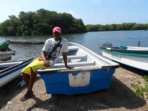 Victor with his new boat