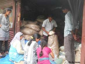 Distribution or relief material
