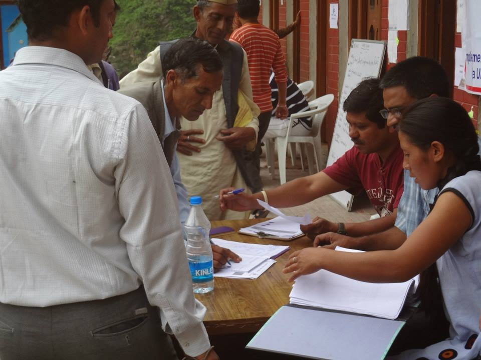 Monitoring of materials distributed
