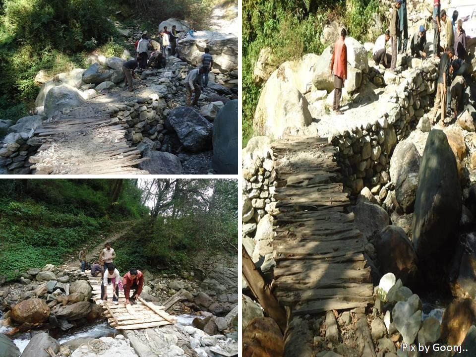 Bridge made under CFW in village Naugaon, Bhatwari