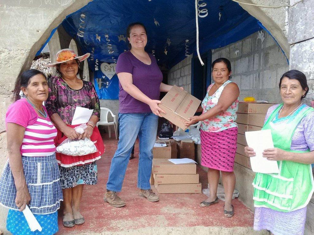 Ana delivers bottling materials