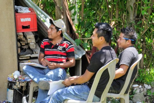 Group members participate in the training